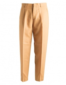 Womens trousers online: Cellar Door Sveva ochre mustard colored trousers