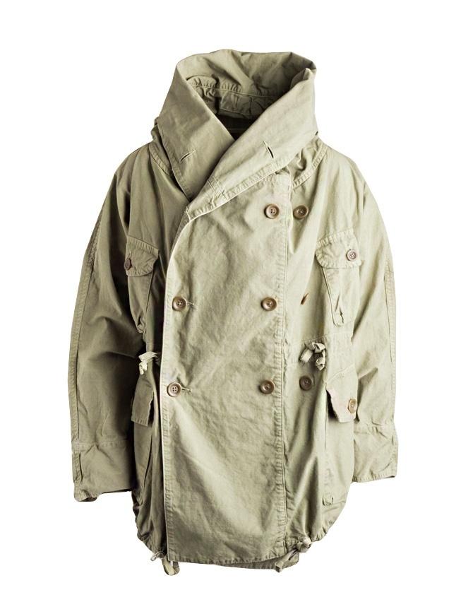 108a65f02b5 Kapital army green coat in ripstop cotton K1809LJ030-KHAKI mens coats online  shopping