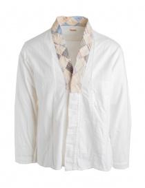 Mens shirts online: Kapital white cotton shirt