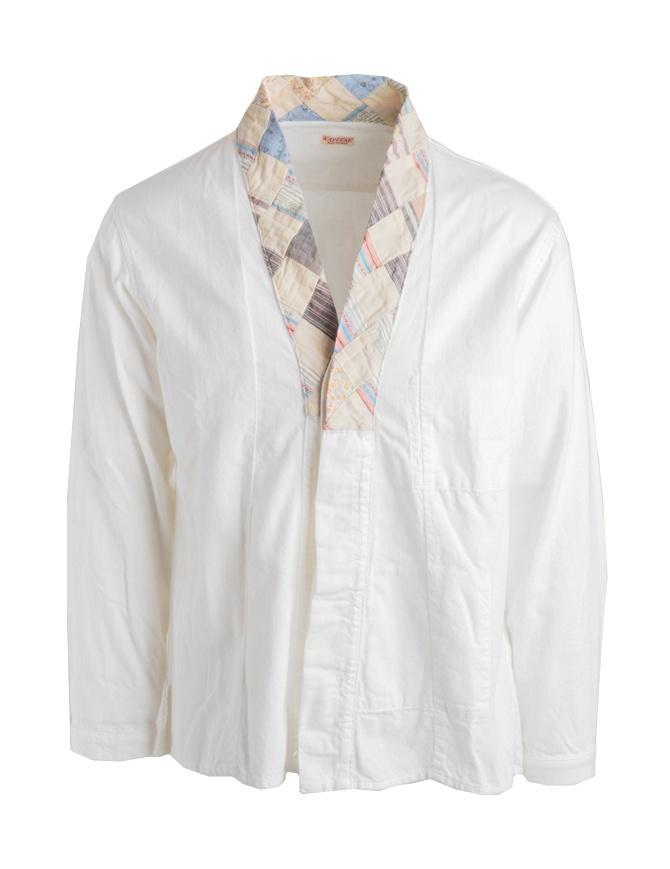 Camicia Kapital in cotone bianco K1704LS195 WHT camicie uomo online shopping