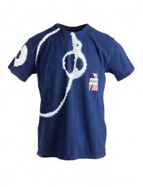 T-shirt Kapital colore indaco decorazioni Batik online