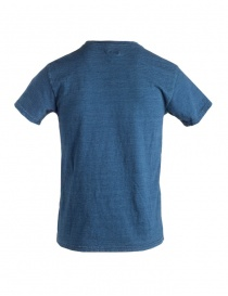 Kapital indigo blue T-shirt with sun smile
