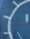 T-shirt Kapital blu indaco con sole smile EK-557 IDG prezzo