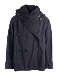 Mens coats online: Kapital Tri-P Black Coat