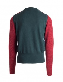 Ballantyne Lab red/green cashmere pullover