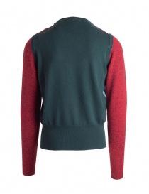 Pullover Ballantyne Lab rosso/verde in cashmere