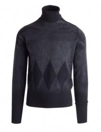 Mens knitwear online: Ballantyne Lab grey cashmere pullover