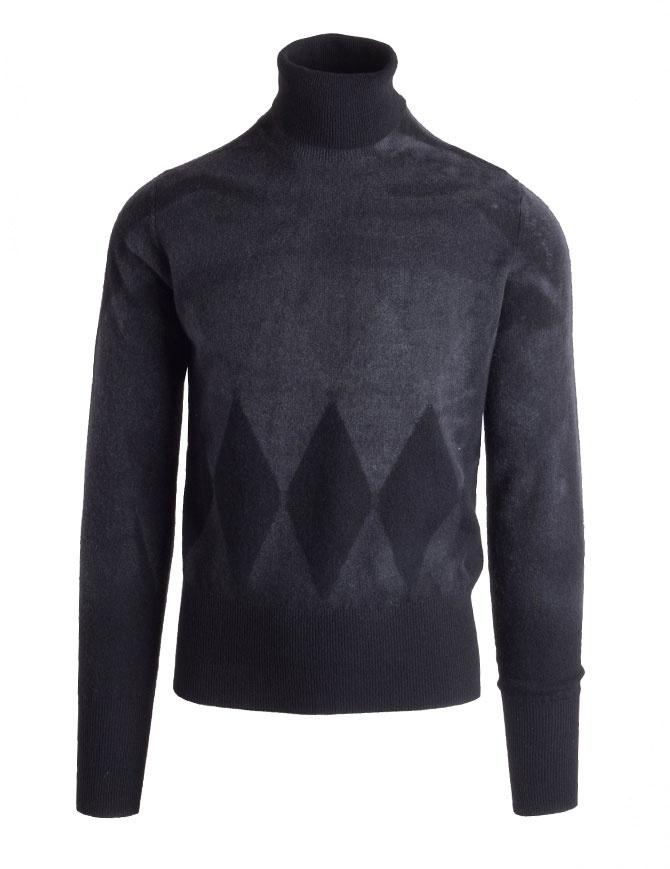 Ballantyne Lab grey cashmere turtleneck sweater NELB35-12KLB mens knitwear online shopping