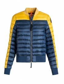 Womens jackets online: Parajumpers Sharyl navy and yellow jacket