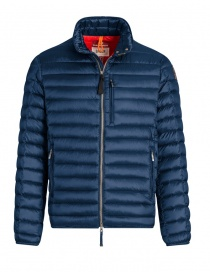 Mens jackets online: Parajumpers Bredford navy blue jacket