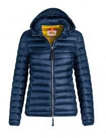 Womens jackets online: Parajumpers Rosalyn navy peony jacket with hood