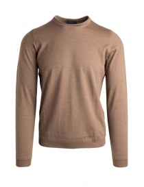 Mens knitwear online: Goes Botanical brown crew-neck sweater