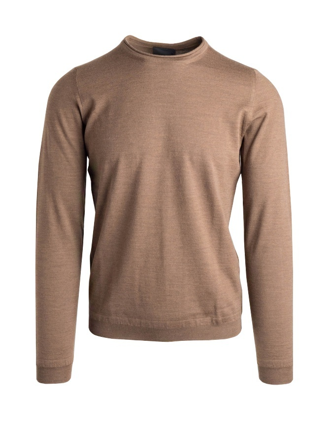 Goes Botanical brown crew-neck sweater 1011009-MARRONE mens knitwear online shopping