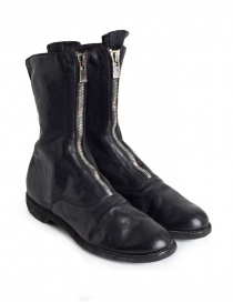 Mens shoes online: Guidi 310 black horse leather ankle boots
