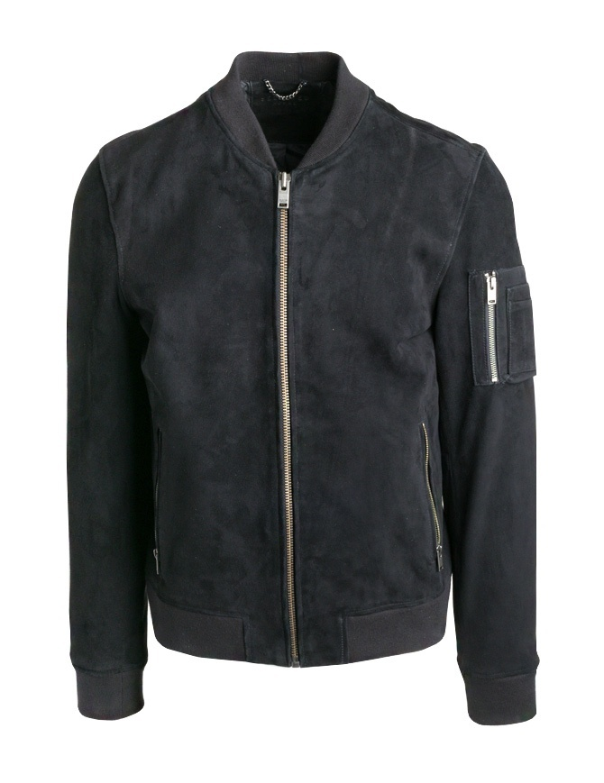 Bomber Selected Homme nero in pelle scamosciata 16058680 SHNMICK SUEDE BOMBER giubbini uomo online shopping