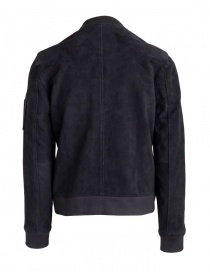 Bomber Selected Homme nero in pelle scamosciata
