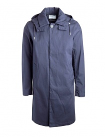 Mens jackets online: Selected People blue jacket with hood