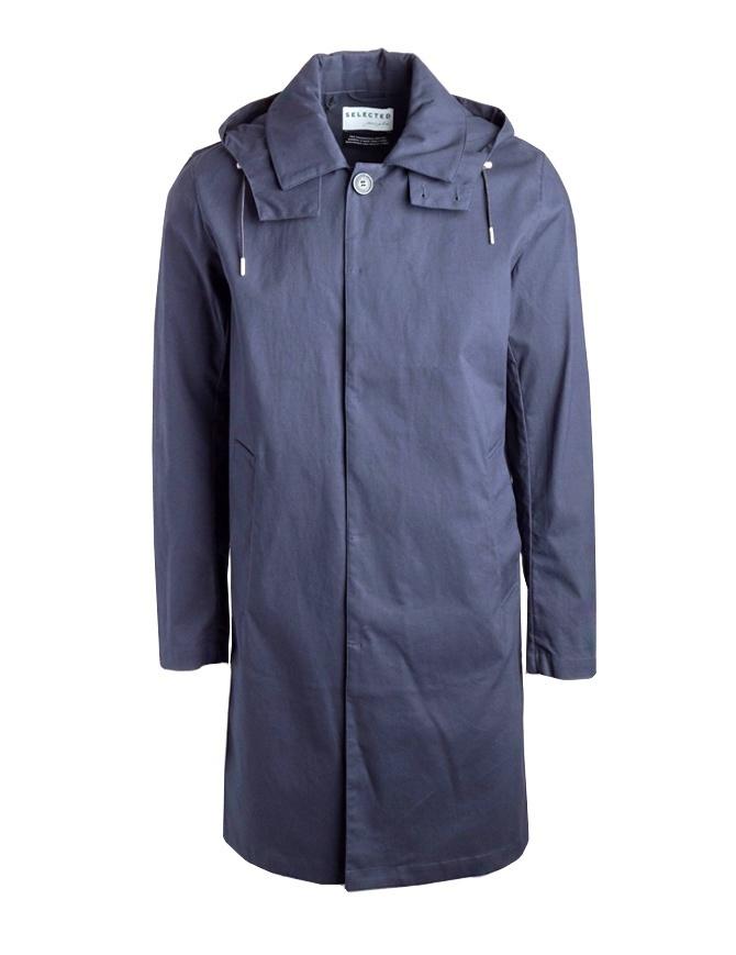 Giacca Selected People blu con cappuccio 16064160 DARK SAPPHIRE giubbini uomo online shopping