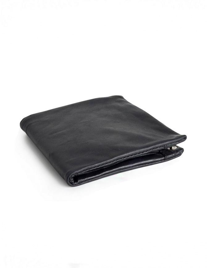 Portafoglio Guidi B7 nero in pelle di canguro B7 KANGAROO FULL GRAIN BLKT portafogli online shopping
