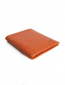 Il Bisonte portafoglio in vacchetta arancione online