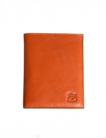 Il Bisonte wallet in orange cowhide