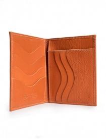 Il Bisonte portafoglio in vacchetta arancione prezzo
