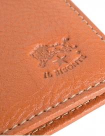 Il Bisonte portafoglio in vacchetta arancione portafogli acquista online