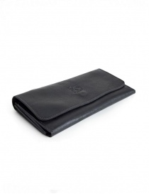 Il Bisonte Long Black Leather Wallet online