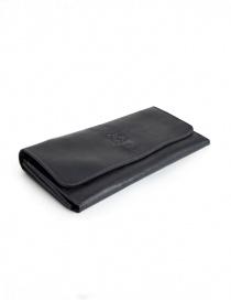 Il Bisonte portafoglio lungo nero in pelle online