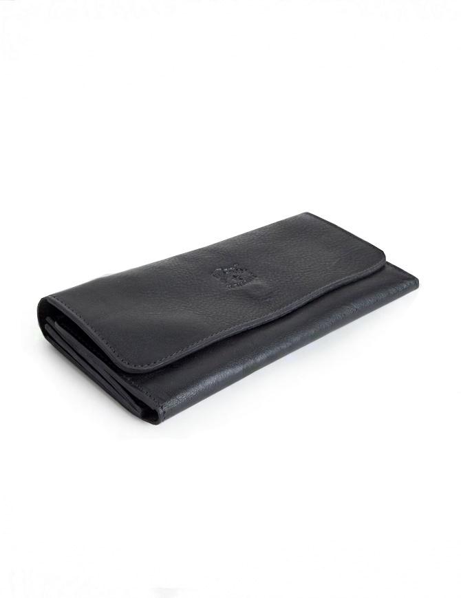Il Bisonte Long Black Leather Wallet C0775-P-153-NERO wallets online shopping