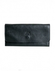 Il Bisonte Long Black Leather Wallet