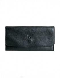 Il Bisonte portafoglio lungo nero in pelle