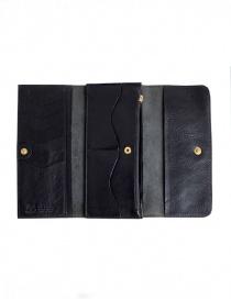 Il Bisonte portafoglio lungo nero in pelle prezzo