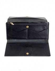 Il Bisonte Long Black Leather Wallet wallets buy online