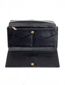 Il Bisonte portafoglio lungo nero in pelle portafogli acquista online