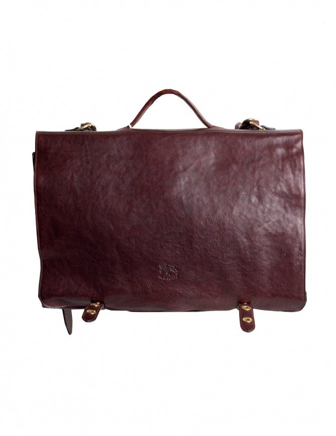 Il Bisonte brown leather briefcase D0214TRPO-567 bags online shopping