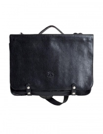 Il Bisonte black cowhide leather briefcase online