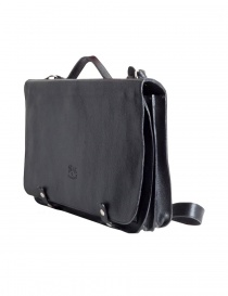 Il Bisonte black cowhide leather briefcase