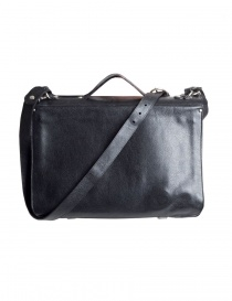 Il Bisonte black cowhide leather briefcase price