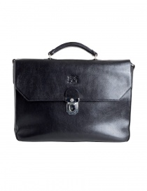 Il Bisonte black work briefcase online