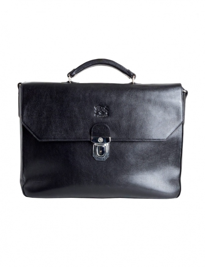 Il Bisonte black work briefcase D0307-P-135N bags online shopping