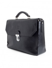 Il Bisonte black work briefcase buy online