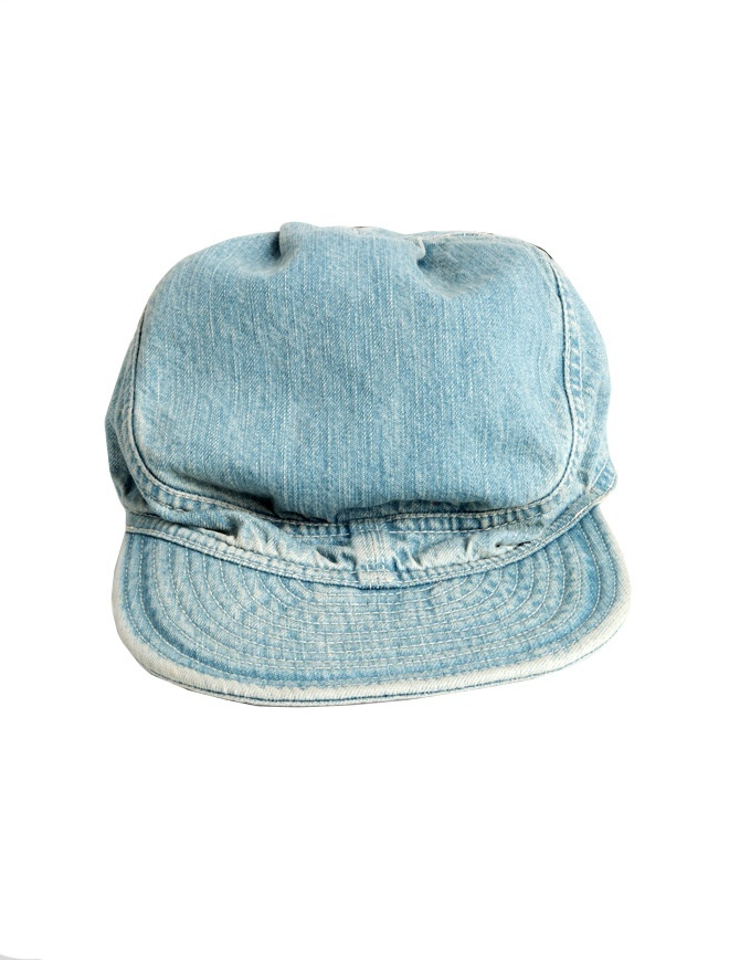 Kapital cap in light blue jeans K63XH274 hats and caps online shopping