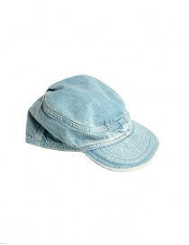 Cappello Kapital in jeans azzurro