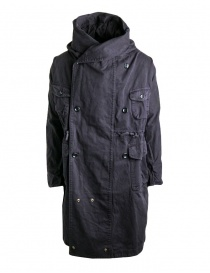 Mens coats online: Kapital coat in black cotton