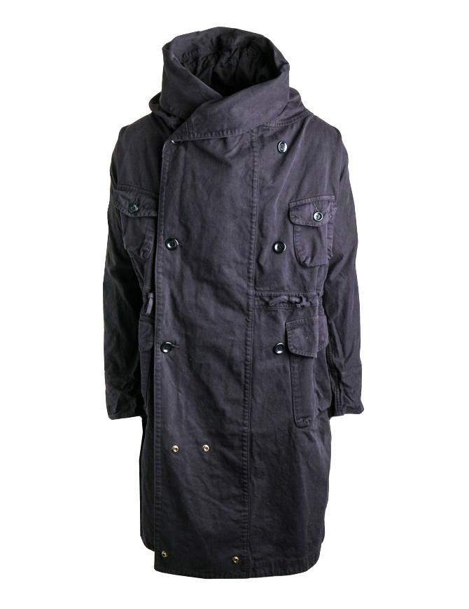 Cappotto Kapital lungo in cotone nero EK-448 BLACK cappotti uomo online shopping