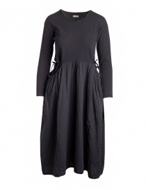 Kapital long-sleeved black long dress EK-463-BLK