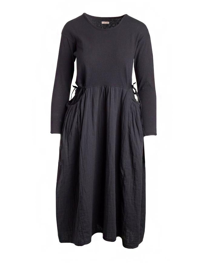 Abito Kapital lungo nero a manica lunga EK-463 BLK abiti donna online shopping