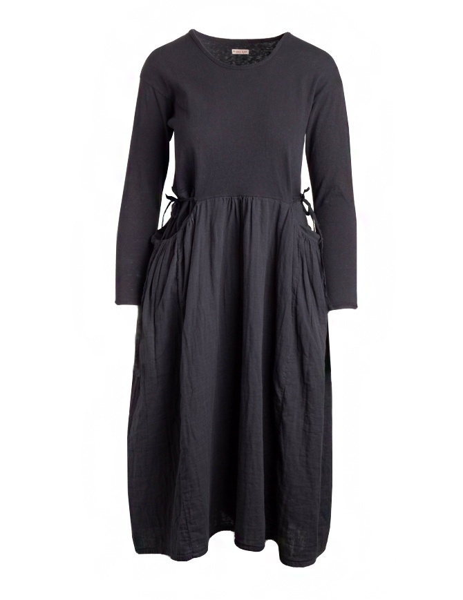 Kapital long-sleeved black long dress EK-463-BLK womens dresses online shopping