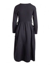 Kapital long-sleeved black long dress